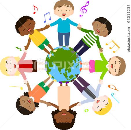 世界各地的孩子们唱歌 68011238