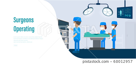 Surgeons operating banner 68012957