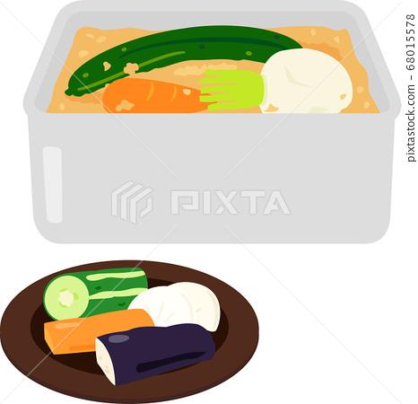 Nukadoko排隊的蔬菜 68015578
