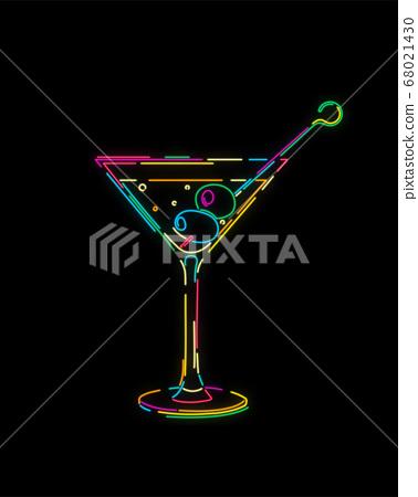 Neon effect martini 68021430