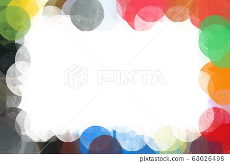 colorful grunge circles border frame illustration 68026498