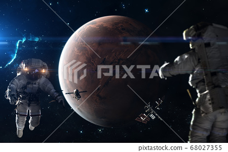 Colonization of Mars. Astronauts, space stations in Mars orbit 68027355