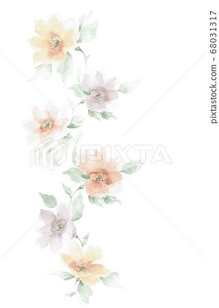 色彩豐富的花卉素材組合和設計元素 68031317