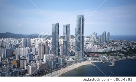 釜山海雲台區海雲台海雲台海水浴場高層建築,住宅區 68034292