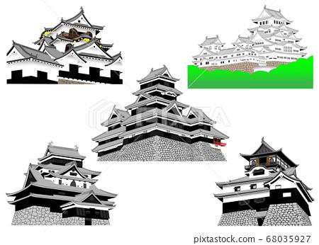 國寶城堡5座城堡(姬路城,松本城,犬山城,彥根城,松江城) 68035927