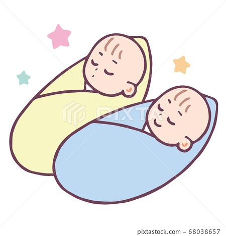 아기 포대기 2 명 68038657