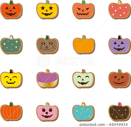 Halloween material colorful cookies 68049934