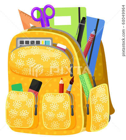 Colored School Backpack Back to School 68049964