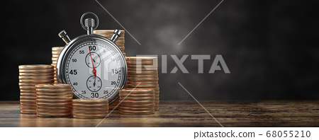Time is money, deposit and inflation concept. 68055210