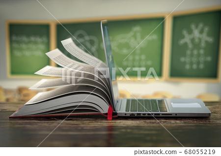 E-learning online education or internet  68055219