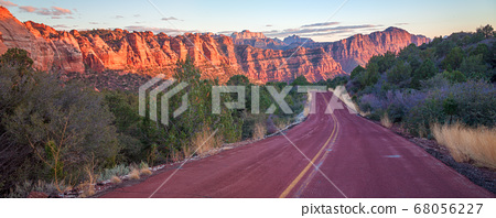 Outdoor Scene of Zion National Park in Utah 68056227