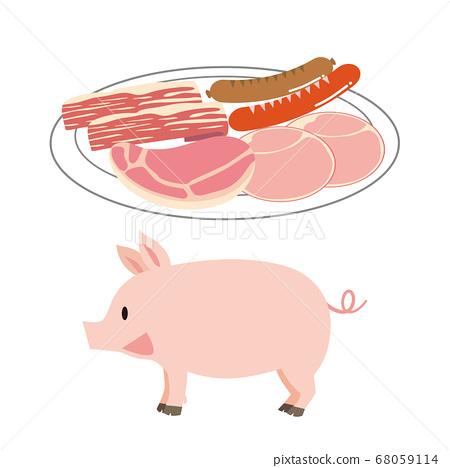 돼지와 가공육 68059114