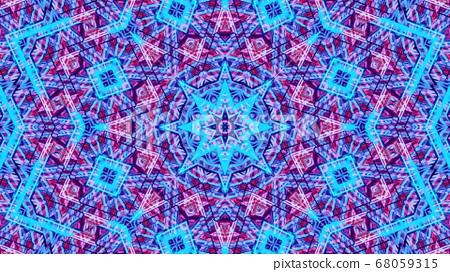 3D Illustration Blue Rippled Star Background 68059315