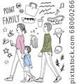 [手寫風格]家庭休閒的插圖 68060266