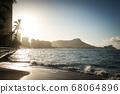 Waikiki Beach early in the morning 68064896