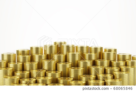 gold coin stack 68065846