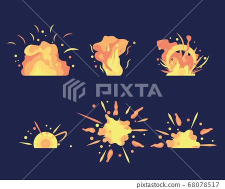 Cartoon explosion set 68078517
