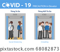 Info-graphic do and don't People social distancing 68082873