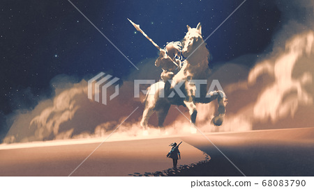 the mysterious horseman-shaped storm 68083790