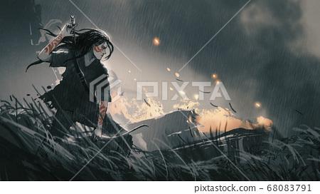 The hunter of the post apocalypse world 68083791