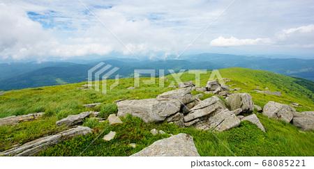 summer landscape of runa mountain. grassy hills of 68085221