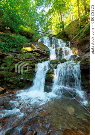great water fall in the forest. beautiful nature 68085225