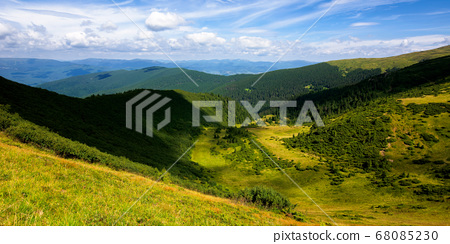 hills and valley of summer mountain landscape. 68085230