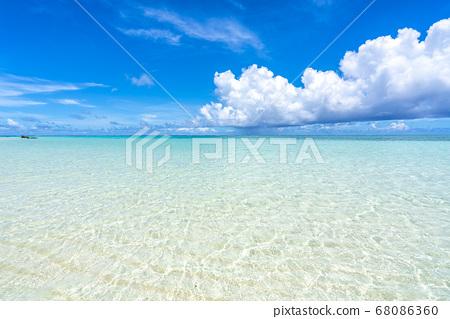 오키나와 현 시모 지 섬 런웨이 17END 해변 68086360