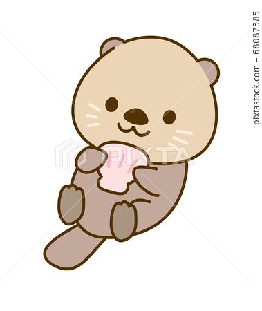 Sea otter illustration 68087385