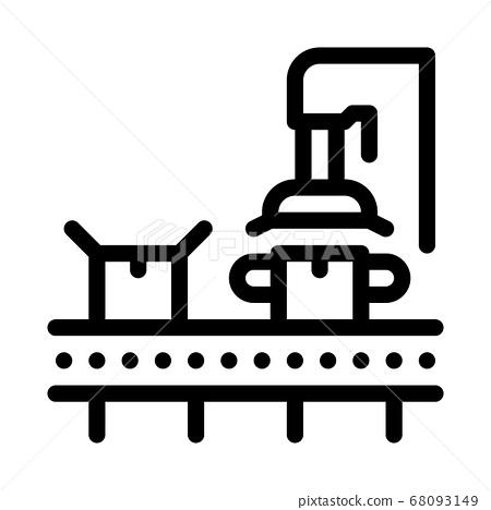 machine for close box icon vector outline illustration 68093149