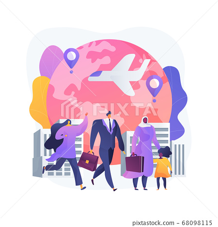 Immigration abstract concept vector illustration. 68098115