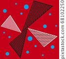 紅 帶條紋的 有條紋的 68102250