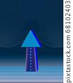 藍色箭頭 68102403