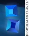 藍色 藍 四邊形 68102437