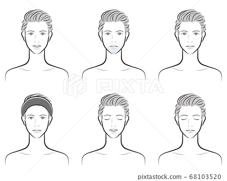 Illustration of a male facial expression 68103520