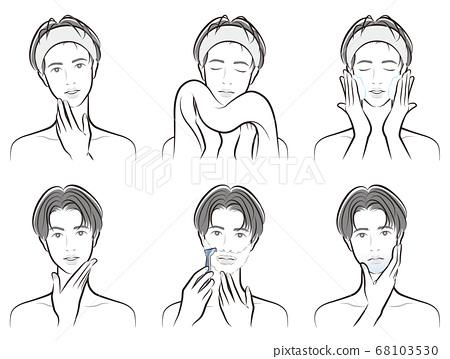 남성의 표정의 일러스트 68103530
