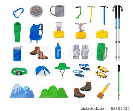 登山商品插圖素材/模擬風格 68105386