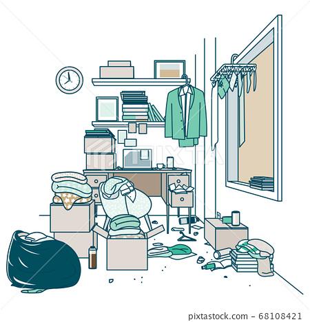 尚未打掃的房間④ 68108421