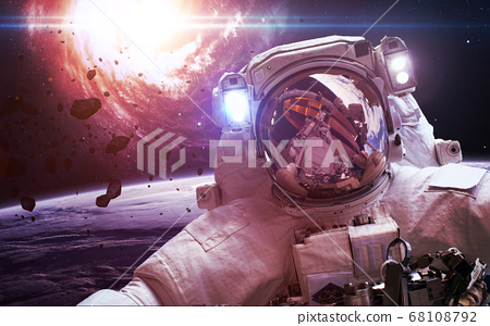 Astronaut at the space station 68108792