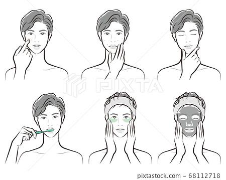 남성의 표정의 일러스트 68112718