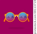 Glasses. Modern vector illustration. Flat style 68113719