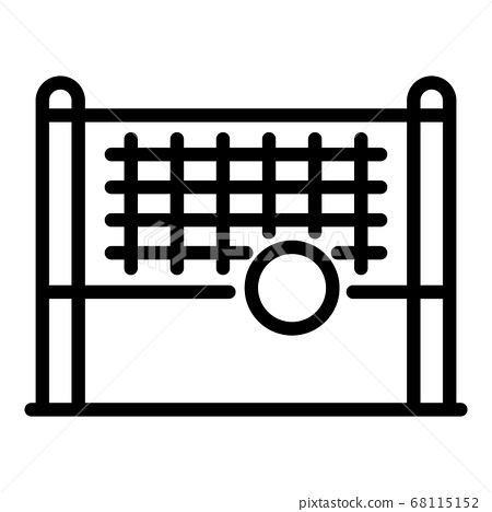 Volleyball net icon, outline style 68115152