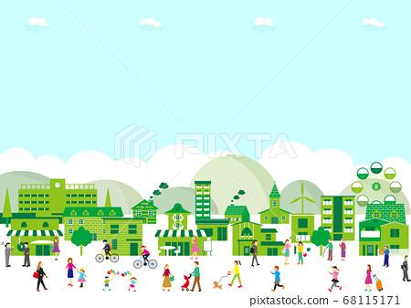 城市景觀的人 68115171