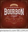 Vintage Bourbon Label For Bottle 68119416