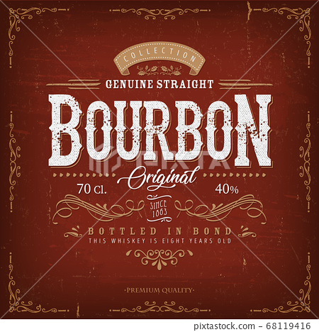 Vintage Bourbon Label For Bottle 68119416