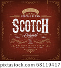 Vintage Whisky Label For Bottle 68119417