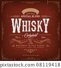 Vintage Whisky Label For Bottle 68119418