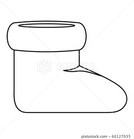 Woman shoes icon vector thin line 68127035