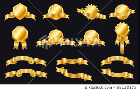 Luxury golden badges 68128175