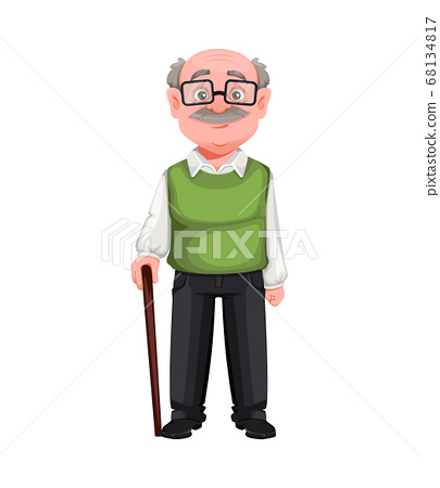 Happy Grandparents day. Handsome smiling old man 68134817